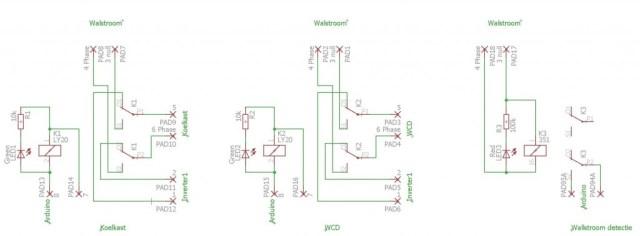 Eagle schema van 220V netwerk walstroom en inverter