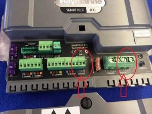 Foutmelding raymarine stuurautomaat aansluiting drive clutch