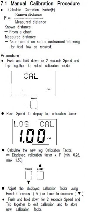Raymarine ST50 Manual calibratie van de snelheid