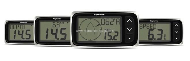 Raymarine i40 instrumenten overzicht