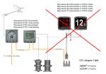 Raymarine installatie Scehma van een fout gebruik van de adaptor-spurkabel van SeaTalk naar SeaTalkNG. Een instrument is beeg bridge. Bestelnummer A06047 en A22164.