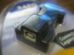 USB2.0 naar RS232 connector met USB-B en USB-A BAFO voor