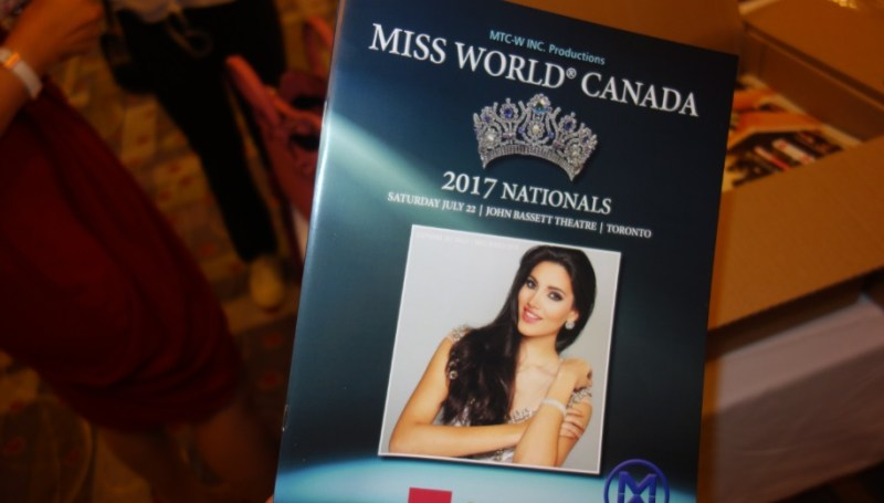 2017 Miss World Canada Event program - printed brochure showing finalists