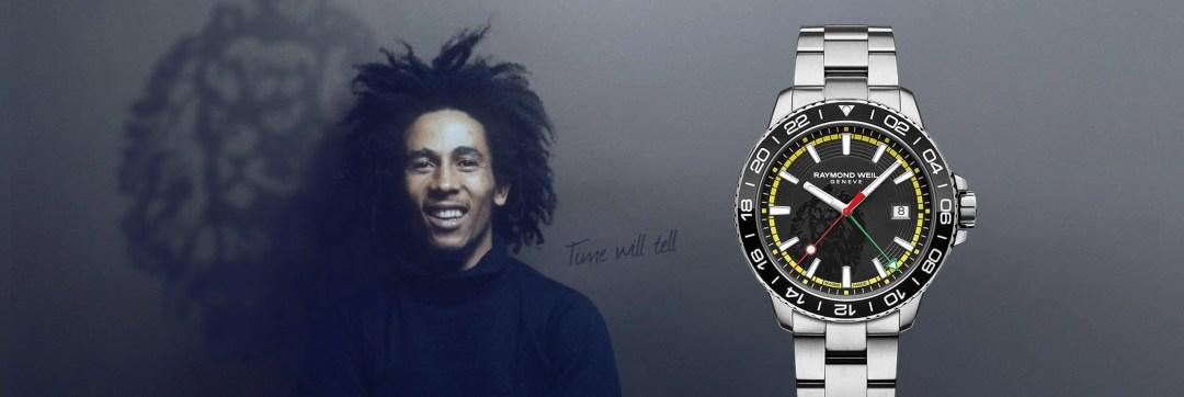 RAYMOND WEIL | Bob Marley Limited Edition Raymond Weil Tango Luxury Watch - Pack Shot Image