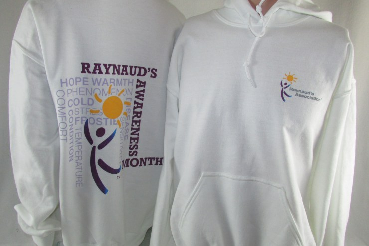 New Raynaud's Awareness Hoodies
