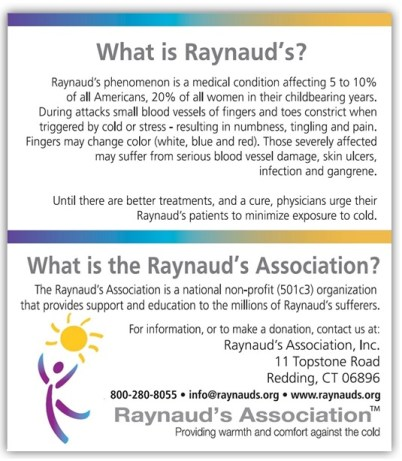 Raynaud's Information Cards