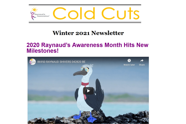 Cold Cuts Winter 2021 Newsletter