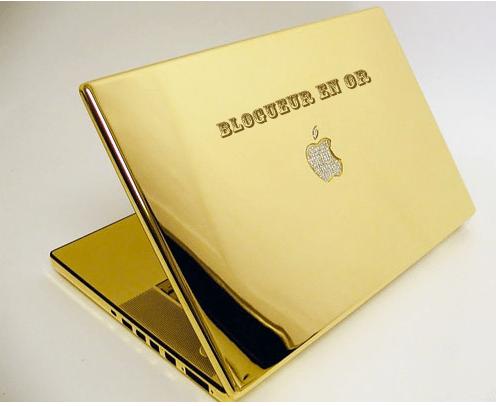 ordinateur en or