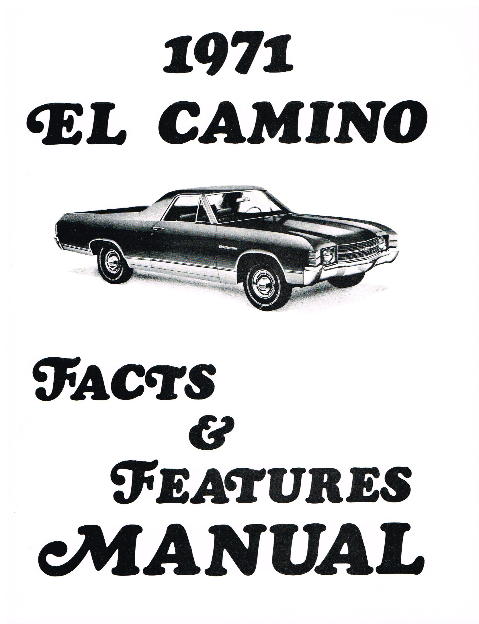 El Camino Facts And Specifications Manual