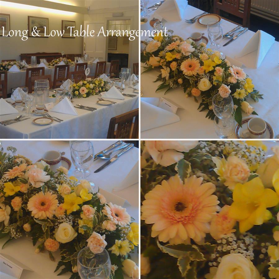 table arrangements floral table