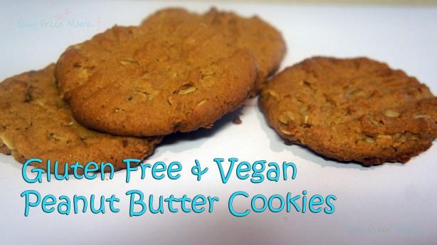 gluten free & vegan peanut butter cookies