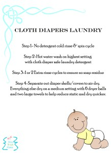 Cloth Diaper Laundry Printable
