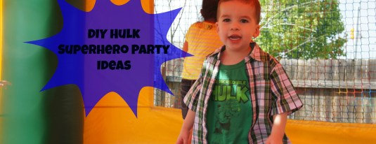 diy hulk superhero party