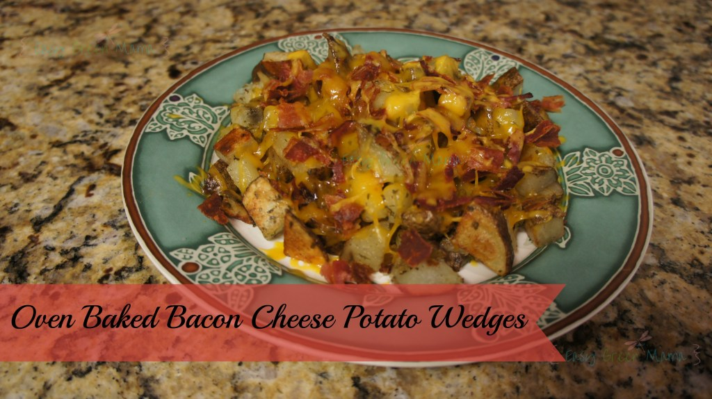 Oven Baked Bacon Cheese Potato Wedges