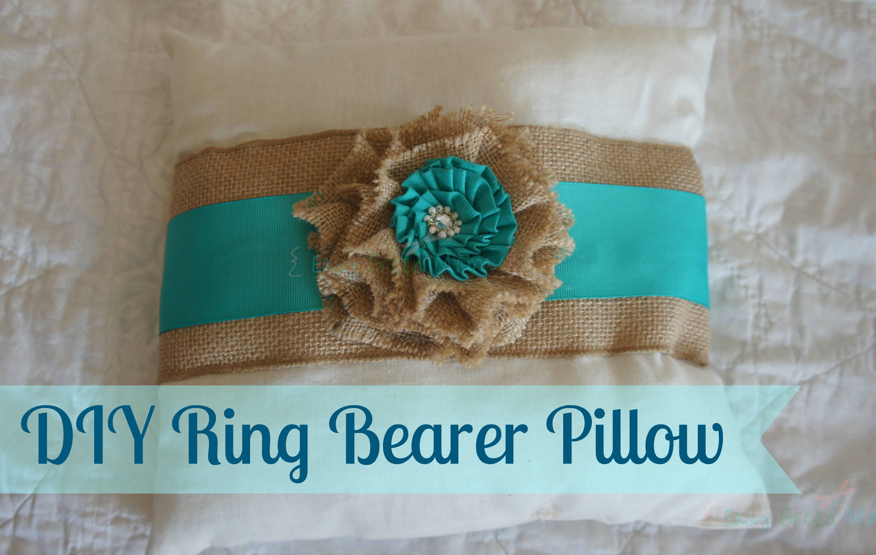Diy ring bearer pillow cheap easy rays of bliss for Diy ring bearer
