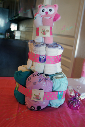 Baby Shower Cloth Diaper Cake