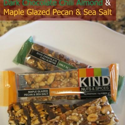 New KIND Nuts & Spices Flavors! Dark Chocolate Chili Almond & Maple Glazed Pecan & Sea Salt