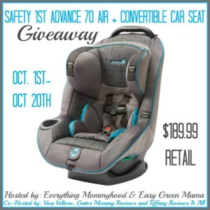 Safety 1st Advance 70 Car Seat Giveaway