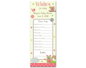 Printable Wishes for Baby - Shower WISH Game Cards