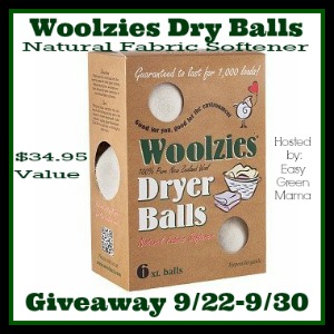 Fall Into Green Giveaway Hop ~ Woolzies Dryer Balls Giveaway!
