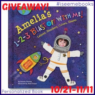 I See Me! 1-2-3 Blast Off With Me Personalized Book Giveaway!