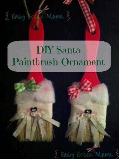 Santa Paintbrush Ornament DIY