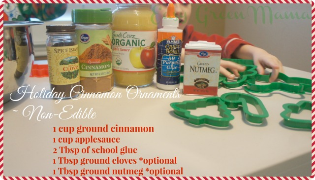 Holiday Cinnamon Ornaments ~ Non-Edible