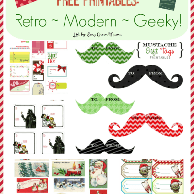Holiday Gift Tags Free Printables: Retro ~ Modern ~ Geeky!