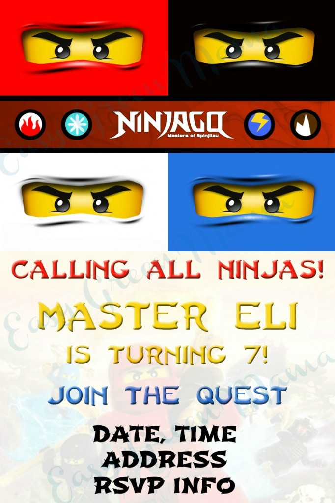 DIY LEGO NINJAGO PARTY with Free Printables Rays of Bliss
