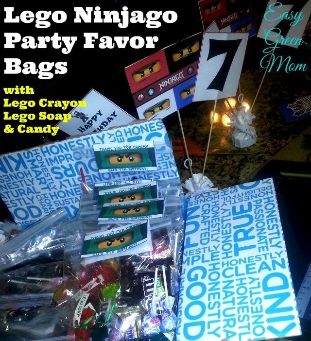 Lego Ninjago Party Favor Bags