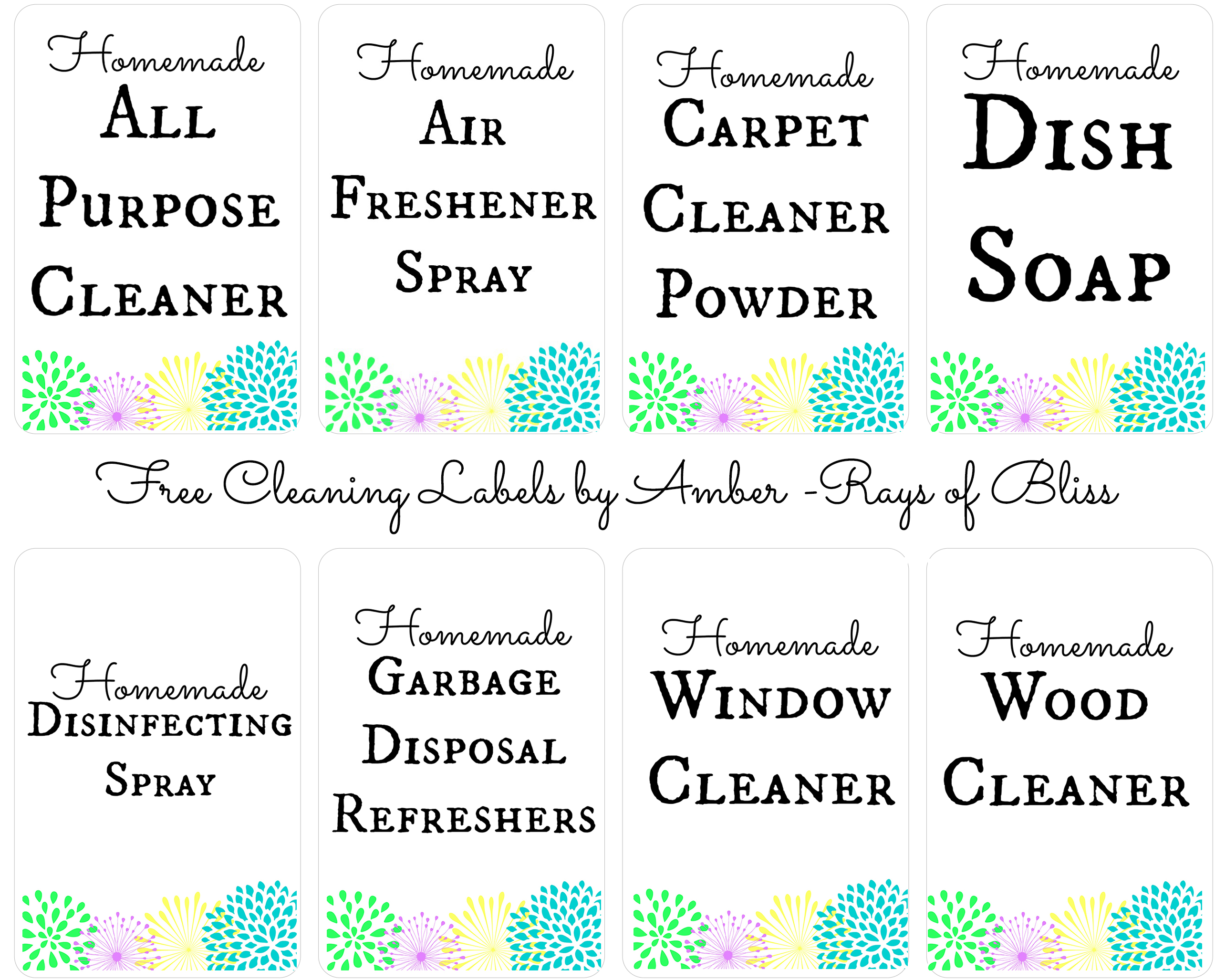 image regarding Printable Essential Oil Labels identify 8 Do-it-yourself Cleansing Recipes with Significant Oils with Absolutely free