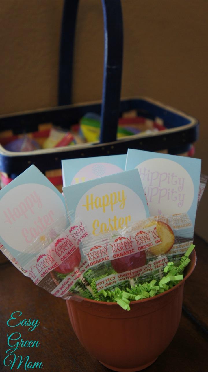 Easter Gift Idea Lollipop Arrangment in Plant Holder