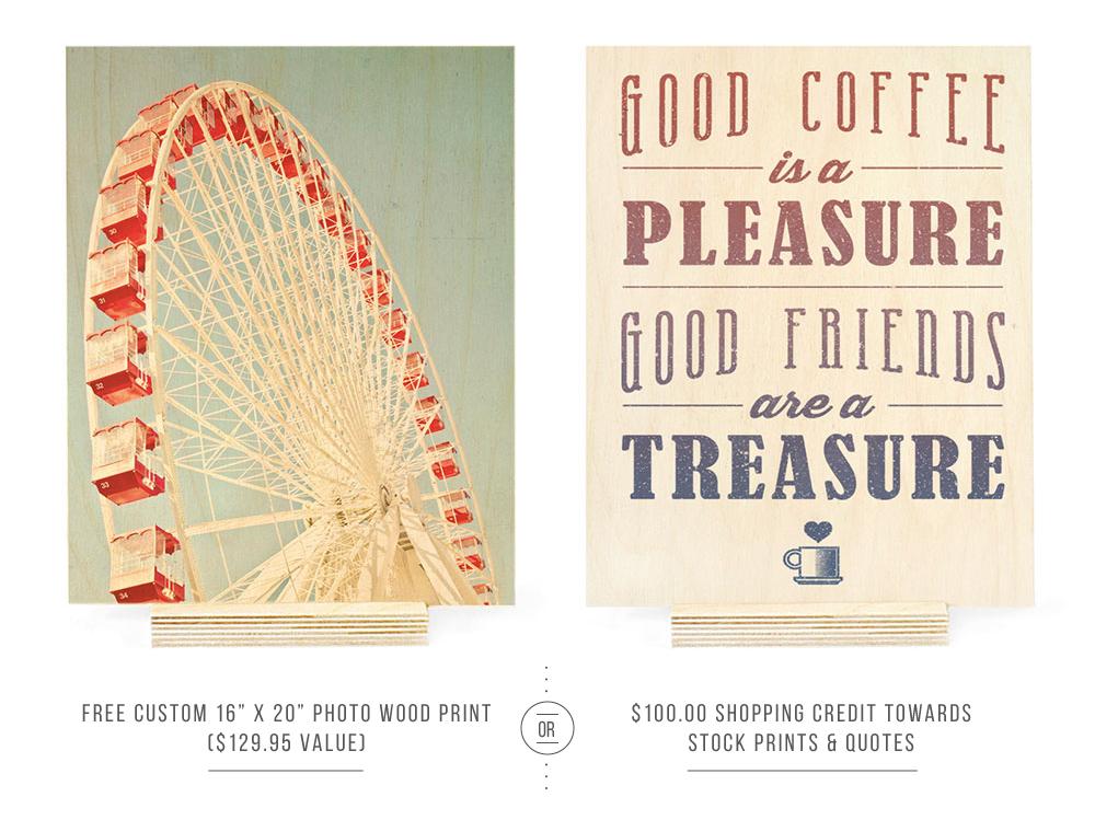 WoodSnap Custom Print or Stock Print