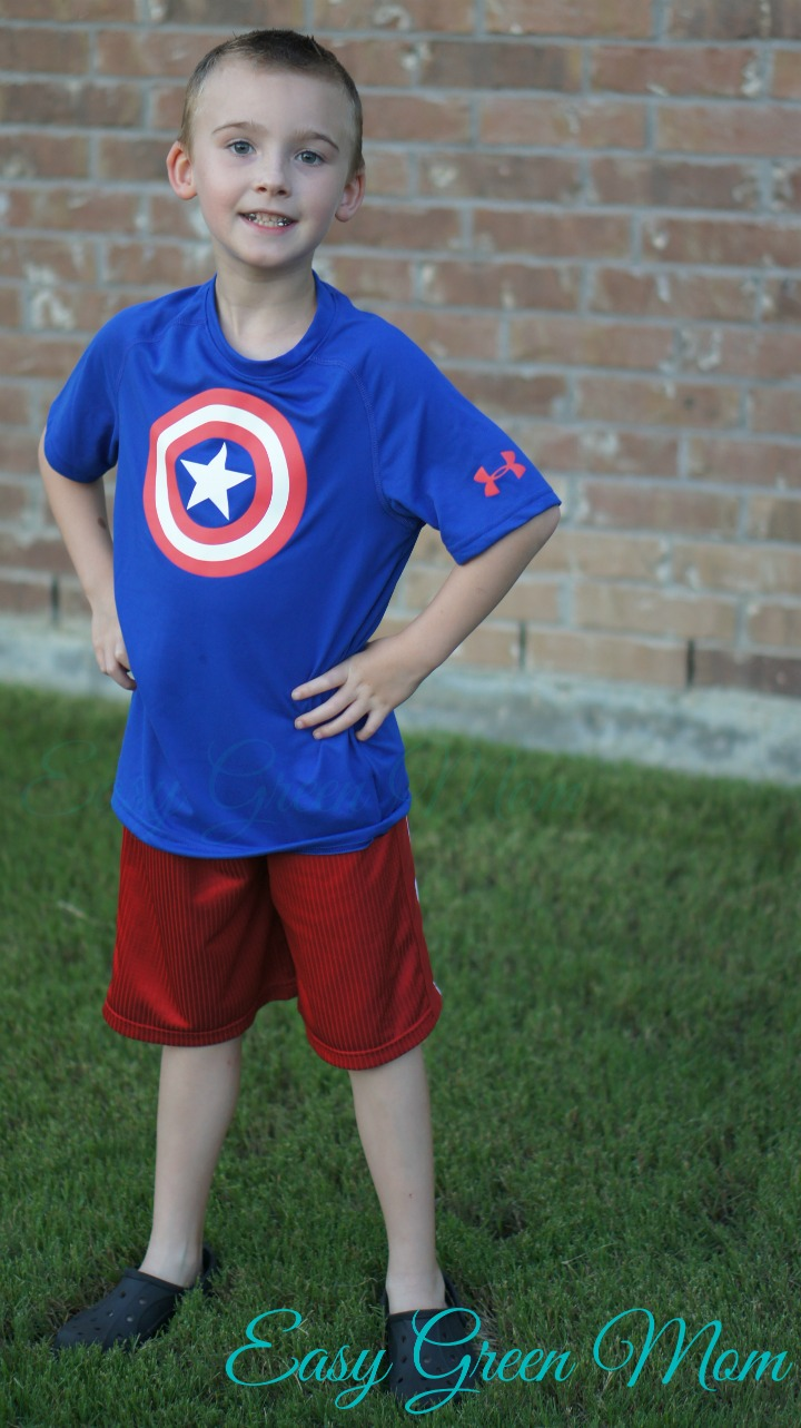 Under Armour® Alter Ego Boys' T-Shirt Captain America