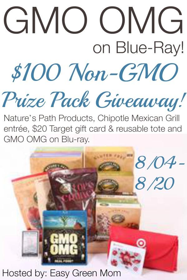 GMO OMG Film Giveaway!  $100 #nongmo prize pack!