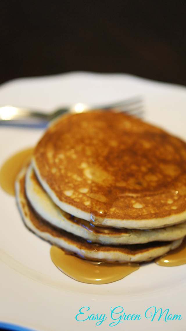 Fluffy Pancakes Gluten Free and Dairy Free. Recipe from rays of bliss.