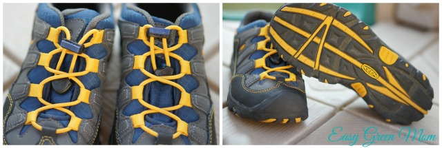 KEEN lace system and bottom of shoe