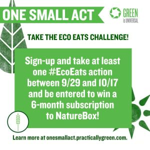 "NBC's Green Is Universal ""Eco Eats Challenge"