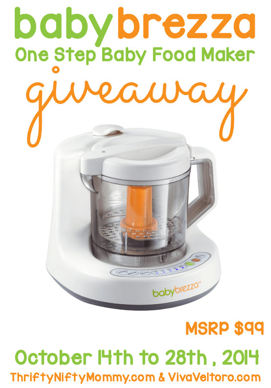 Baby Brezza One Step Baby Food Maker Giveaway