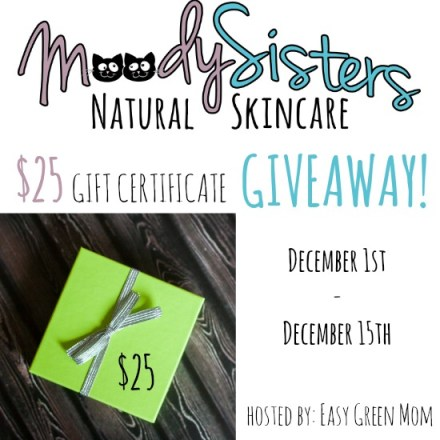 Moody Sisters Natural Skincare Review + $25 Gift Certificate Giveaway!