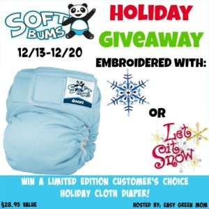 SoftBums Limited Edition Holiday Cloth Diaper Giveaway!