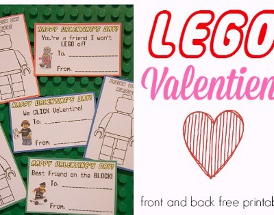 Lego Valentine's Day Cards Free Printable