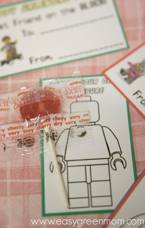 YumEarth Organic Pops with Lego Valentine