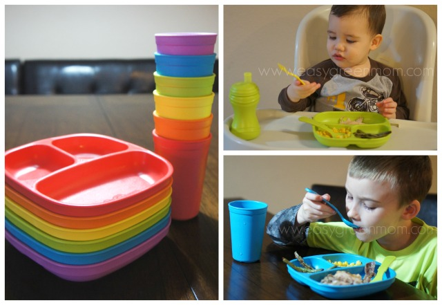 Re-Play Recycled Children's Tableware plates
