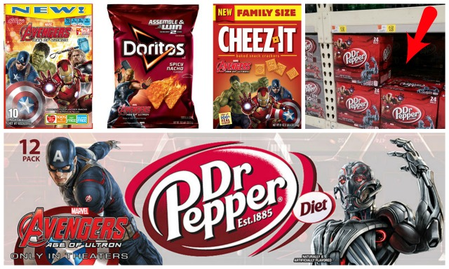 specially marked Avengers packaging of certain Kellogg's, Hasboro, Dr. Pepper or Marvel products