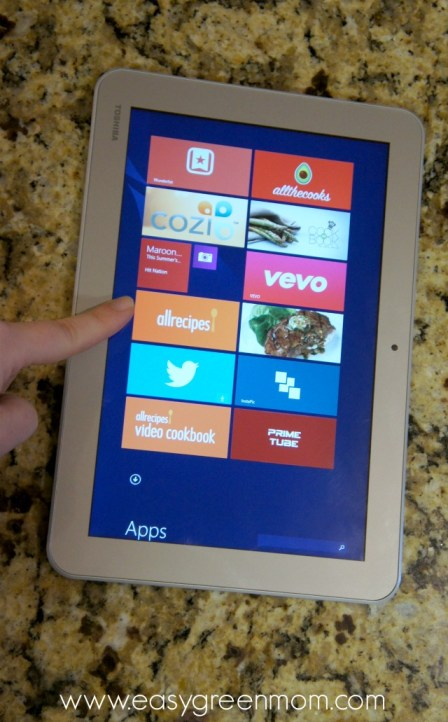 In the Kitchen with my Intel Tablet!  Helpful Apps.
