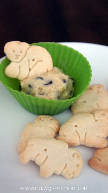 Chocolate Chip Dip with Animal Crackers