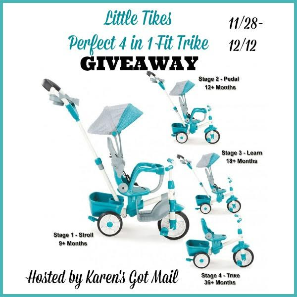 Little Tikes Perfect 4 in 1 Fit Trike Giveaway