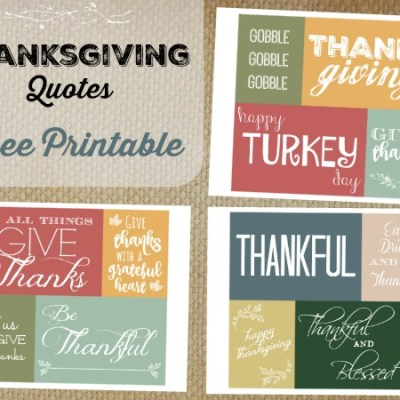 Thanksgiving Day Free Printable -Thankful Quotes