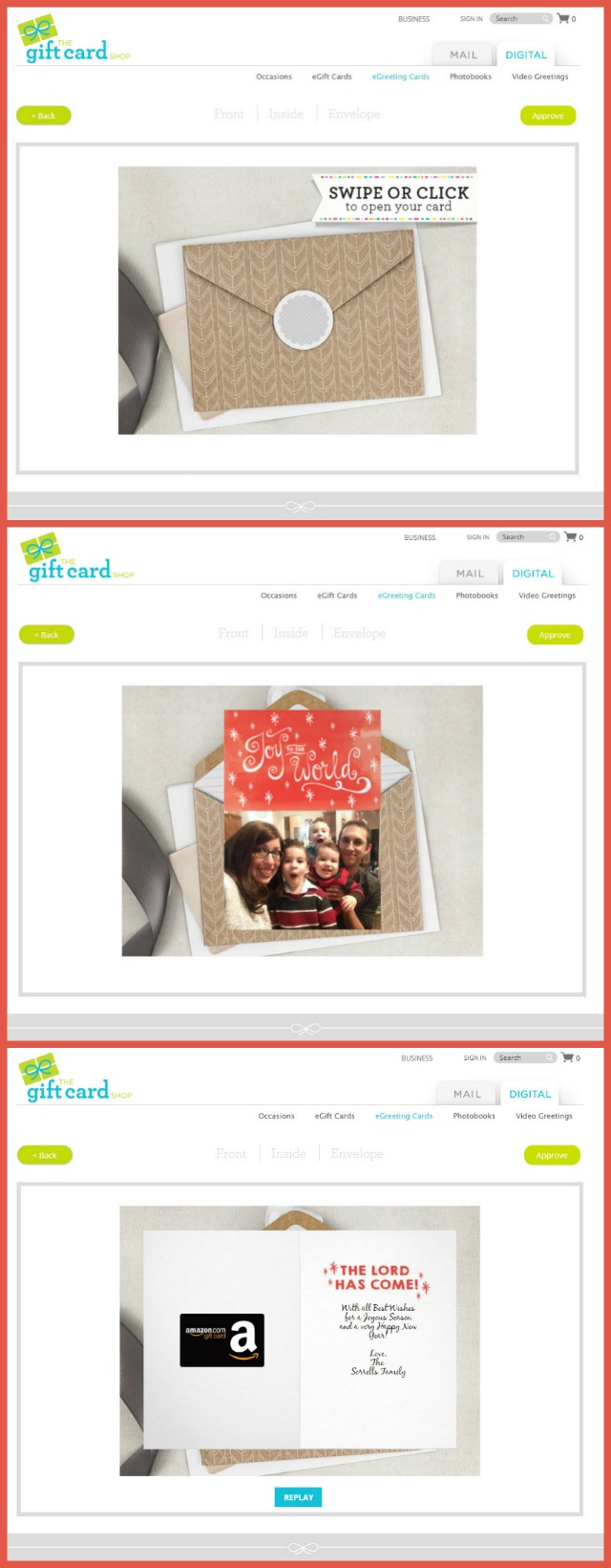 thegiftcardshop.com digital greeting card